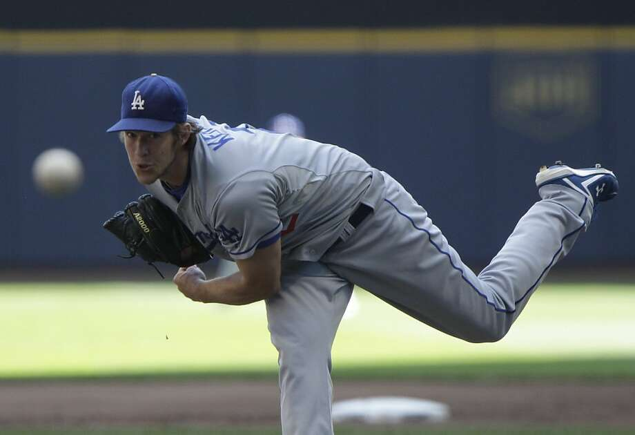 Los Angeles Dodgers starting pitcher Clayton Kershaw throws during the first inning of a baseball game against the Milwaukee Brewers Thursday, Aug. 18, 2011, in Milwaukee. Photo: Morry Gash, AP
