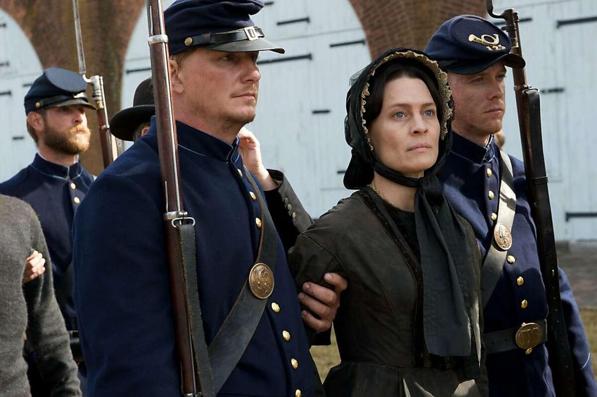 "Robin Wright Penn stars as Mary Surratt in, ""The Conspirator."" Ran on: 05-06-2011 Robin Wright Penn stars as Mary Surratt in The Conspirator, a historical re-creation."