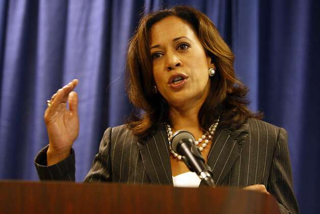 Attorney General Kamala Harris held a press conference to announce an enforcement action related to a wide-ranging mortgage fraud on Thursday, August 18, 2011 at the State Building in San Francisco, Calif.  Ran on: 08-19-2011 Attorney General Kamala Harris says the defendants &quo;suggested the banks would have to pay, but the only people who paid were&quo; homeowners; the state will seek restitution. Photo: Maddie McGarvey, The Chronicle