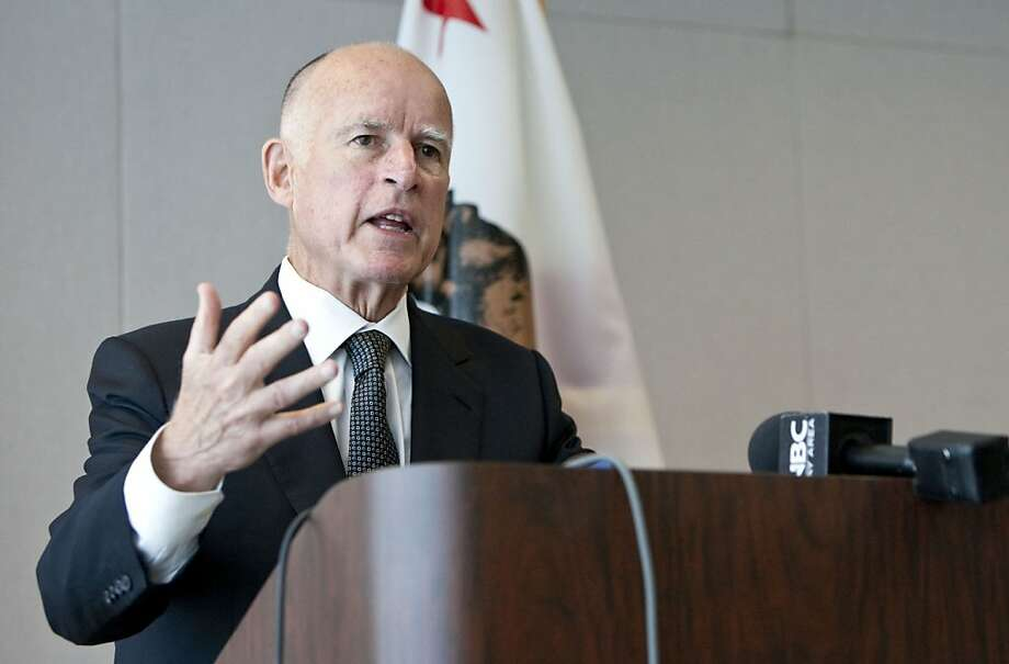 Governor Jerry Brown speaks about his nomination of Goodwin Liu, a UC Berkeley law professor, to the California Supreme Court during a press conference in San Francisco, Calif., on Tuesday, July 26, 2011.  Liu was previously nominated by President Obama to the Ninth U.S. Circuit Court of Appeals in San Francisco, but the appointment was blocked by Senate Republicans. Photo: Laura Morton, Special To The Chronicle