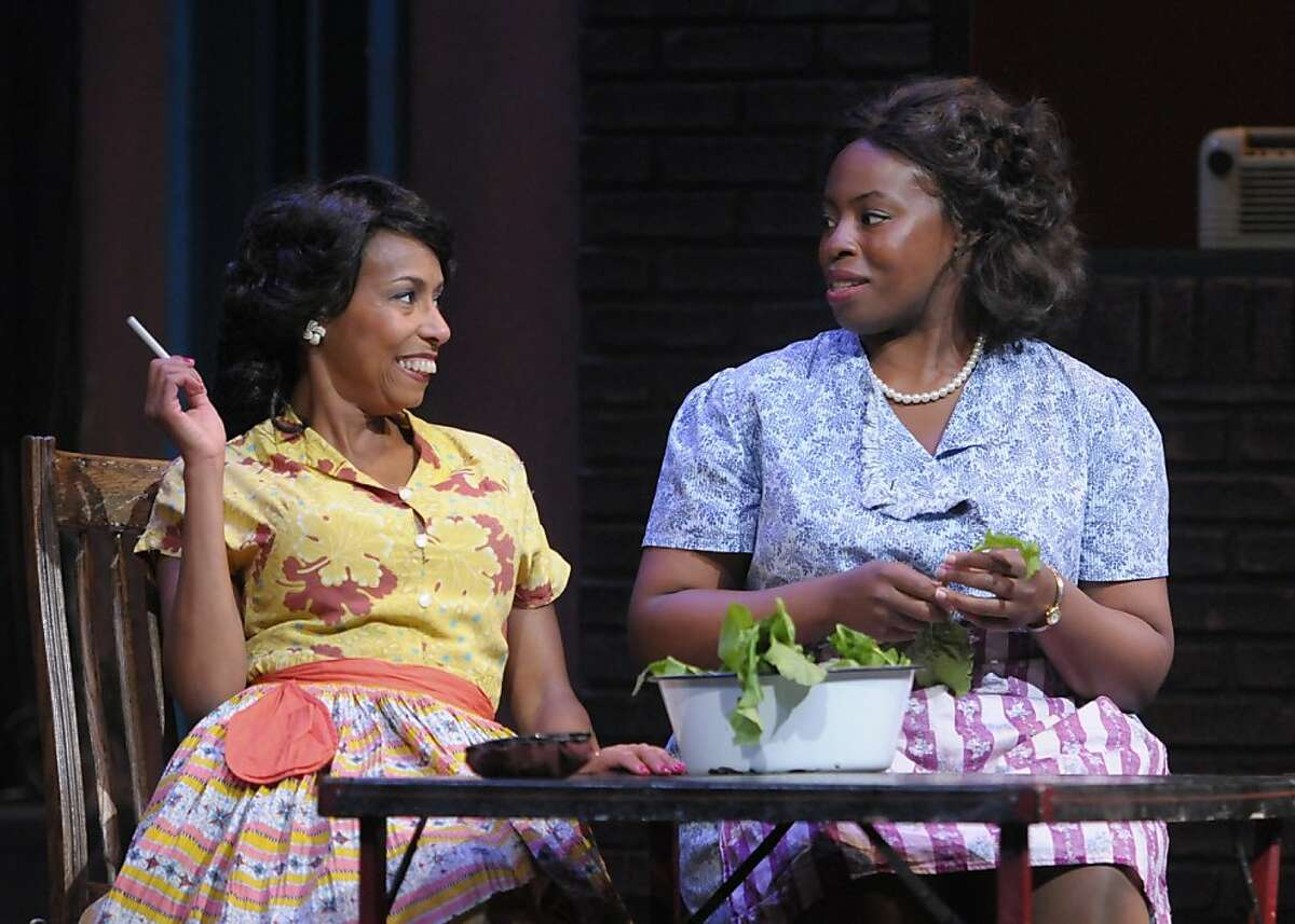 Louise (Margo Hall, left) and Vera (Omoze Idehenre) talk about Floyd in Marin Theatre Company's production of August Wilson's
