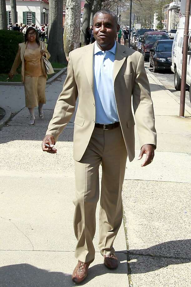 Former Olympic gold medalist Carl Lewis is seen after announcing his political candidacy for a New Jersey state Senate seat in the 8th Legislative District, Monday, April 11, 2011, in Mount Holly, N.J.  (AP Photo/Julio Cortez)  Ran on: 04-12-2011 Photo caption Dummy text goes here. Dummy text goes here. Dummy text goes here. Dummy text goes here. Dummy text goes here. Dummy text goes here. Dummy text goes here. Dummy text goes here.###Photo: names12_PH_lewis1302393600AP###Live Caption:Former Olympic gold medalist Carl Lewis is seen after announcing his political candidacy for a New Jersey state Senate seat in the 8th Legislative District, Monday, April 11, 2011, in Mount Holly, N.J.###Caption History:Former Olympic gold medalist Carl Lewis is seen after announcing his political candidacy for a New Jersey state Senate seat in the 8th Legislative District, Monday, April 11, 2011, in Mount Holly, N.J.  (AP Photo-Julio Cortez)###Notes:Carl Lewis###Special Instructions: Photo: Julio Cortez, AP