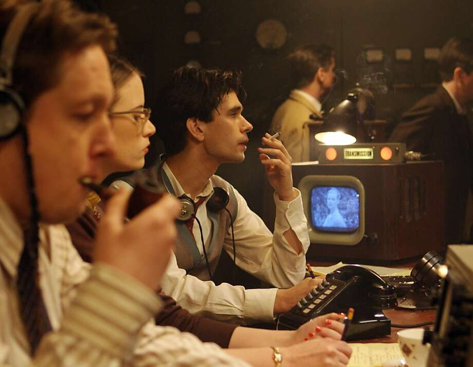 "Ben Whishaw, center, in, ""The Hour."" Photo: BBC"
