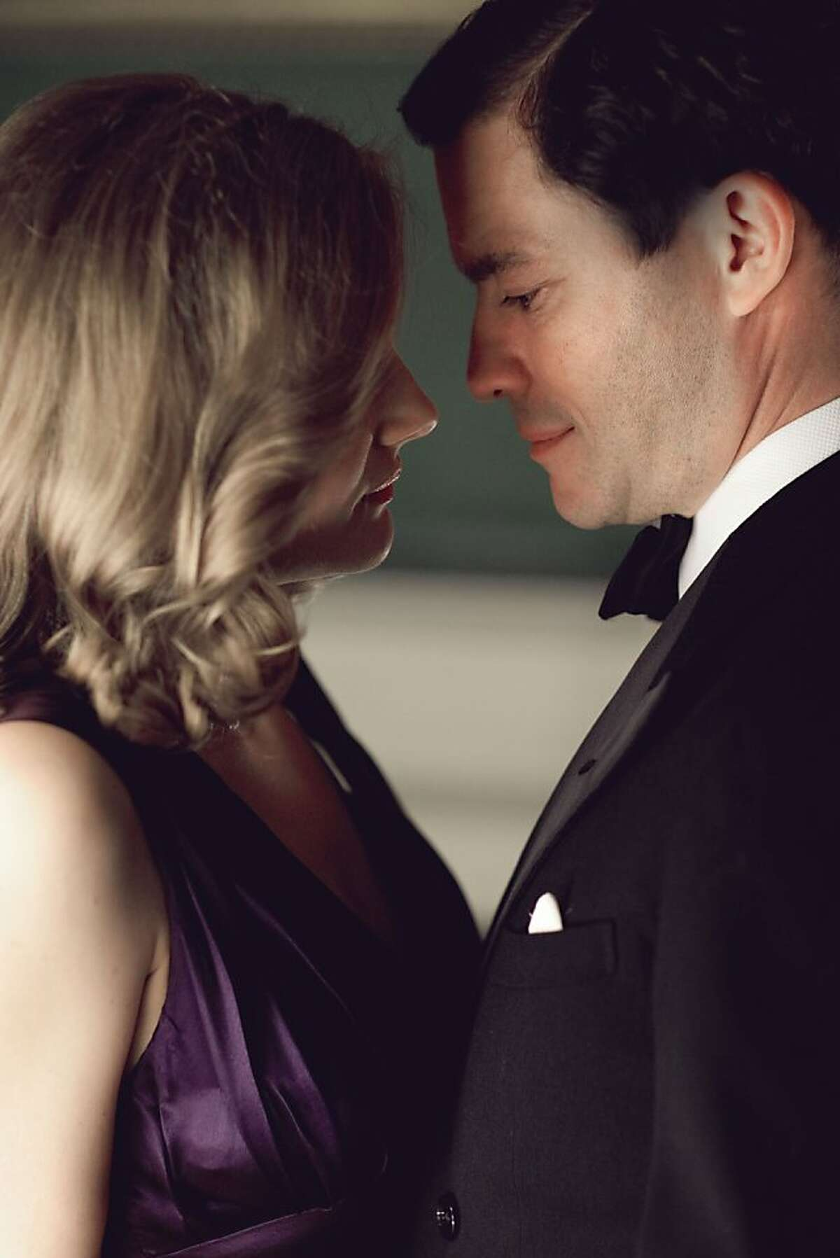 THE HOUR Episode 3 Bel Rowley (Romola Garai) and Madden (Dominic West)