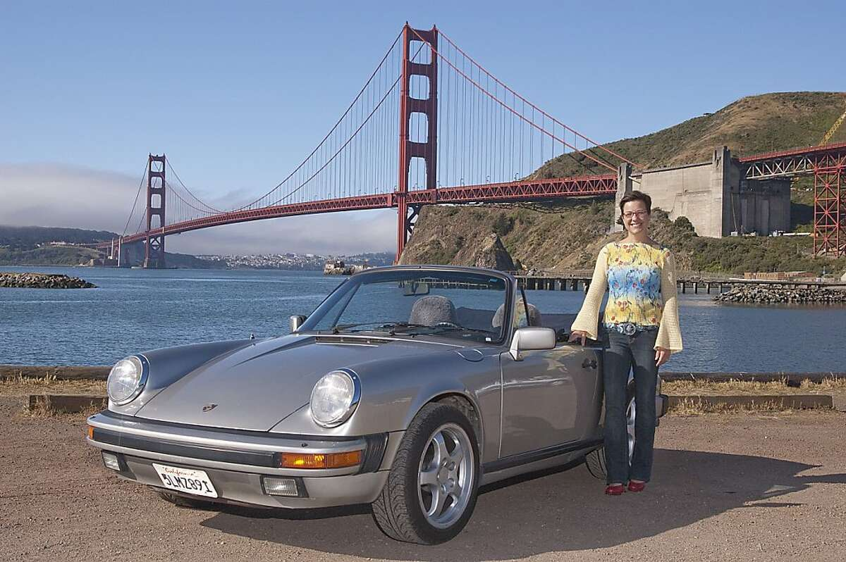 Photos of Sue Glader and her 1984 Porsche 911 Cabriolet Carrera photographed at Cavallo Point, Fort Baker, Sausalito CA on May 12, 2011