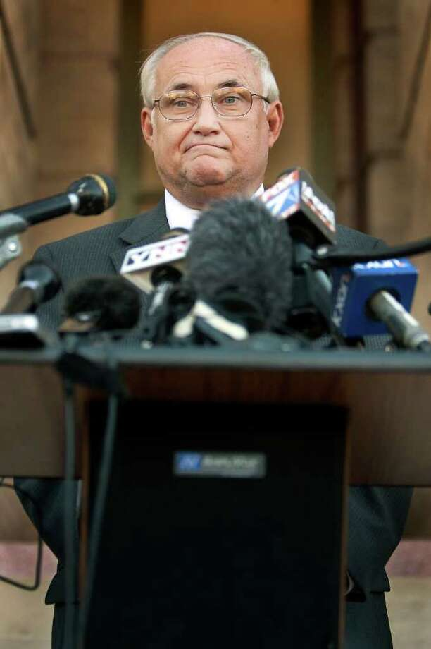 In the Nov. 16, 2011 file photo, Williamson County District Judge Ken Anderson gestures at a news conference  in Georgetown, Texas. Photo: AP