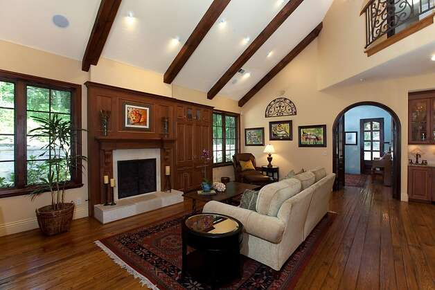 Installing Faux Wood Beams On Vaulted Ceiling: Hand Hewn Antique Beams On Ceiling