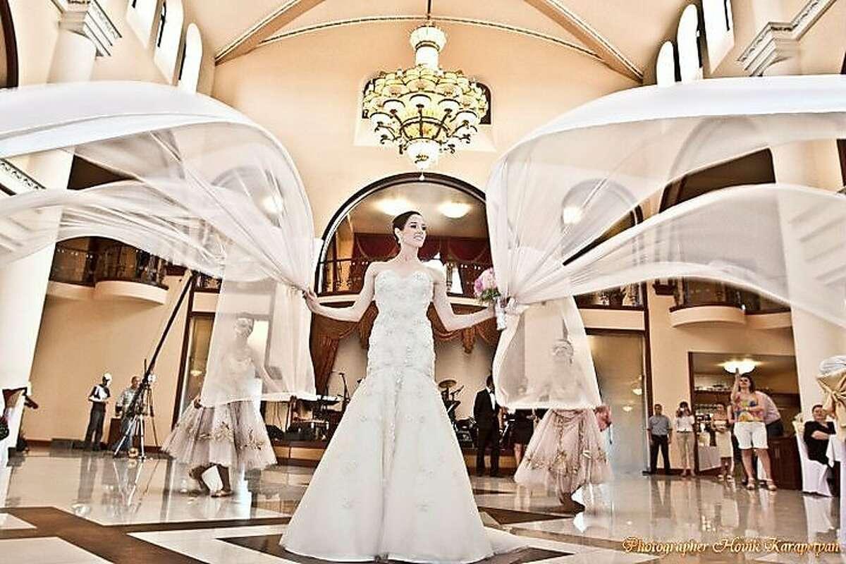 Vanessa Zahorian and Davit Karapetyan on their wedding day in Yerevan, Armenia from June 11,2011.