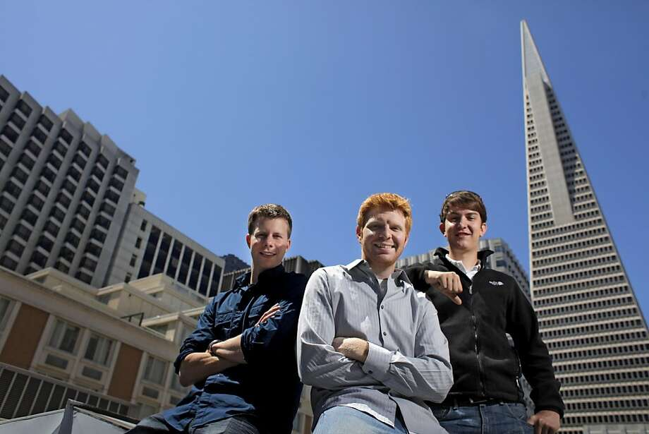 Weebly, a four-year-old start-up, whose co-founders Dan Veltri, left,  Chris Fanini and David Rusenko and Dan Veltri, are stilling working out a business model for their popular self-publishing tool, Tuesday August 2, 2011, in San Francisco, Calif. Photo: Lacy Atkins, The Chronicle