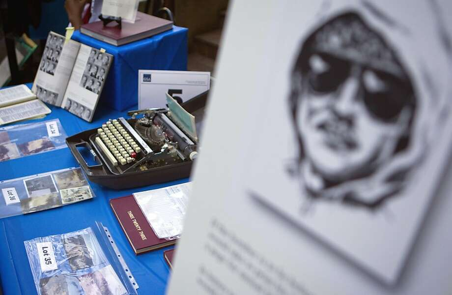 Personal items that once belonged to Ted Kaczynski, aka the Unabomber, are displayed for an online auction with proceeds to benefit the victims' families Wednesday, May 18, 2011 in Atlanta. The items include handwritten letters, typewriters, tools, clothing and several hundred books. (AP Photo/David Goldman)  Ran on: 06-04-2011 Personal items that once belonged to Theodore Kaczynski, the Unabomber, are displayed for an online auction. Photo: David Goldman, AP