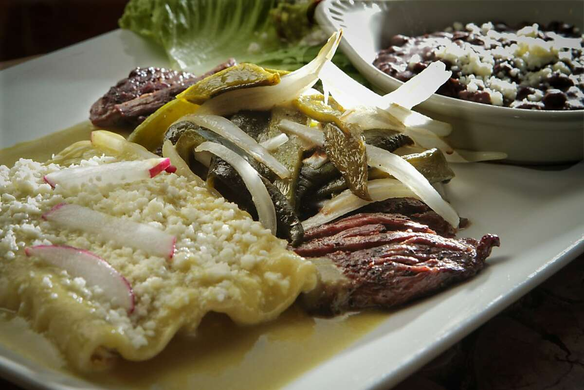 The Tampiquena, grilled Skirt Steak, at Tamarindo Restaurant in Oakland, Calif., is seen on July 23rd, 2011.