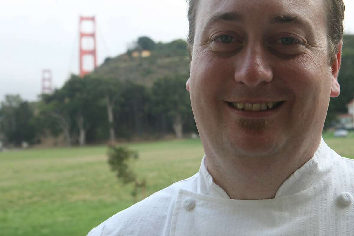 Murray Circle Executive Chef, Joseph Humphrey poses for a portrait and at Murray Circle, a new restaurant in the newly restored Cavalla Point resort in Fort Baker on Friday July 11, 2008 in Sausalito, Calif. Photo by Mike Kepka / The Chronicle