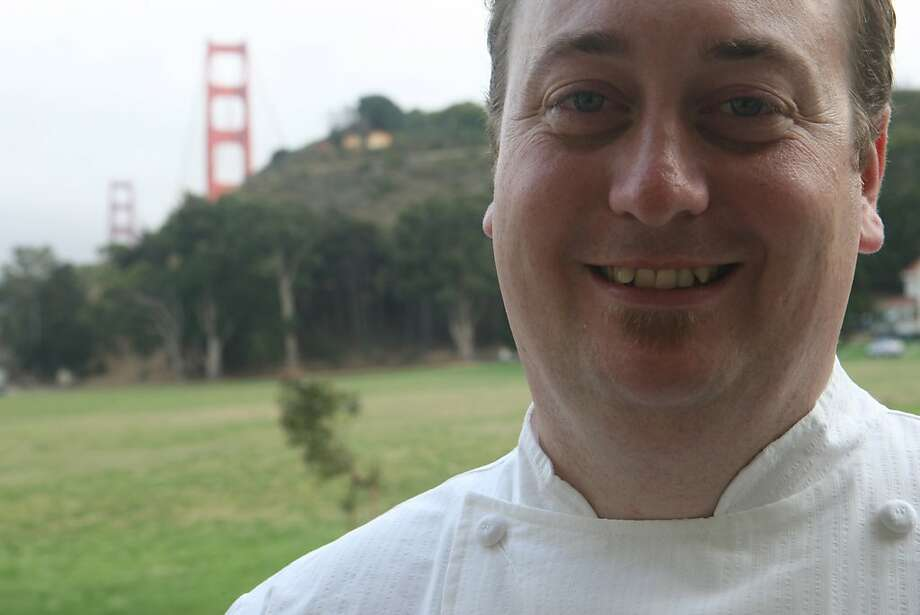 Murray Circle Executive Chef, Joseph Humphrey poses for a portrait and at Murray Circle, a new restaurant in the newly restored Cavalla Point resort in Fort Baker on Friday July 11, 2008 in Sausalito, Calif.  Photo by Mike Kepka / The Chronicle Photo: Mike Kepka, The Chronicle