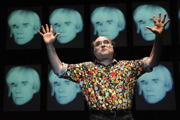 "Josh Kornbluth, shown performing his ""Andy Warhol: Good for the Jews?,"" will read Allen Ginsberg's ""Howl"" at Wednesday's First Person Singular series. Photo: Stan Barouh"