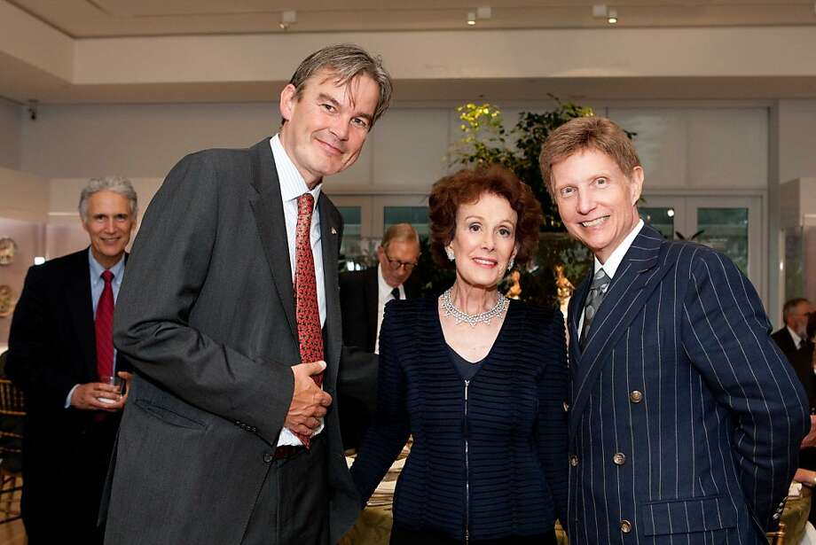 Netherlands Consul General Bart van Bolhuis (left) with show sponsor Phoebe Cowles and Fine Arts Museums Director John Buchanan at the Legion of Honor for the Dutch Masterworks opening. July 2011. By Drew Altizer. Photo: Drew Altizer, Special To The Chronicle