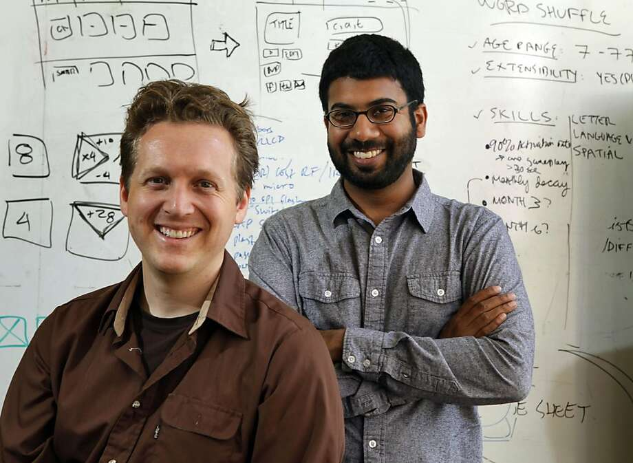 Co founders of Sifteo L to R are David Merrill and Jeevan Kalanithi. Sifteo is a San Francisco start-up hoping to revolutionize gaming with its innovative new system: a series of cubes that have LCD screens on them, which can be re-arranged in endless combinations to play a wide variety of games. Each cube is a mini-computer. At a time when most SF start-ups are focused on software, Sifteo is making a bid to sell software. Tuesday Aug 9, 2011 Photo: Lance Iversen, The Chronicle