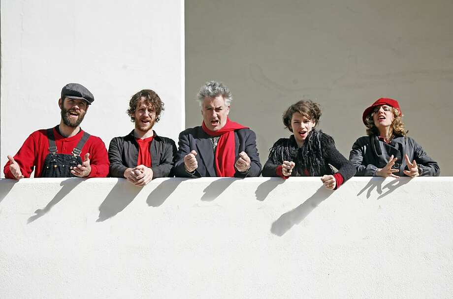 Cosa Brava: Matthias Bossi (from left), The Norman Conquest, Fred Frith, Carla Kihlstedt, Zeena Parkins Photo: Heike Liss