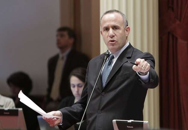 State Senate President Pro Tem Darrell Steinberg, D-Sacramento, called on Republican lawmakers to join Democrats in approving a measure to extend tax hikes for another year, during the debate over the state budget package,  at the Capitol in Sacramento,Calif., Friday, June 10, 2011.   Despite Steinberg's  plea, the measure failed to get the two-thirds votes need for passage falling 22-15 on a party line vote. Photo: Rich Pedroncelli, Associated Press