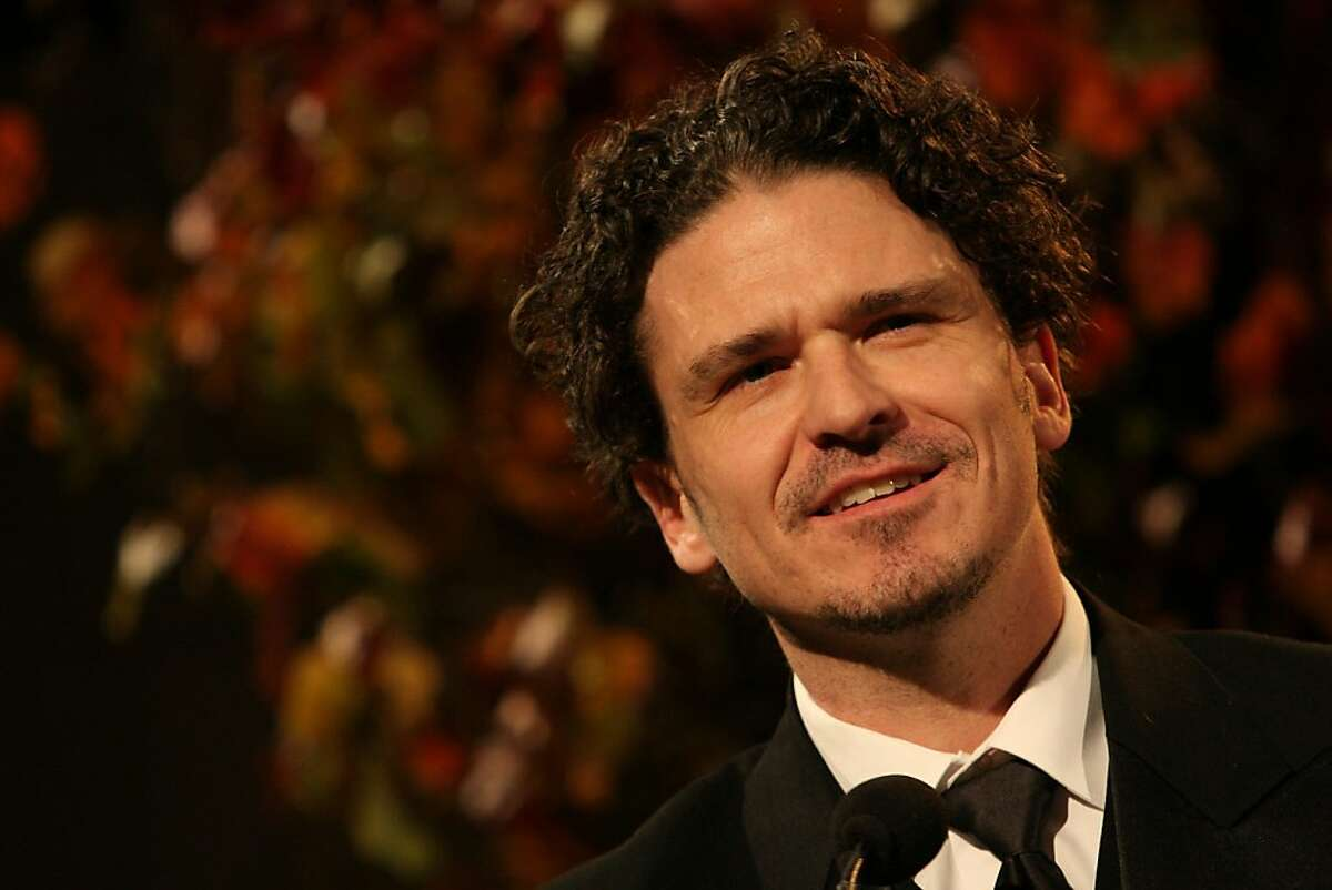 Dave Eggers speaks after being presented with the Literarian Award for Outstanding Service to the American Literary Community at the National Book Awards Wednesday Nov. 18, 2009 in New York. (AP Photo/Tina Fineberg)