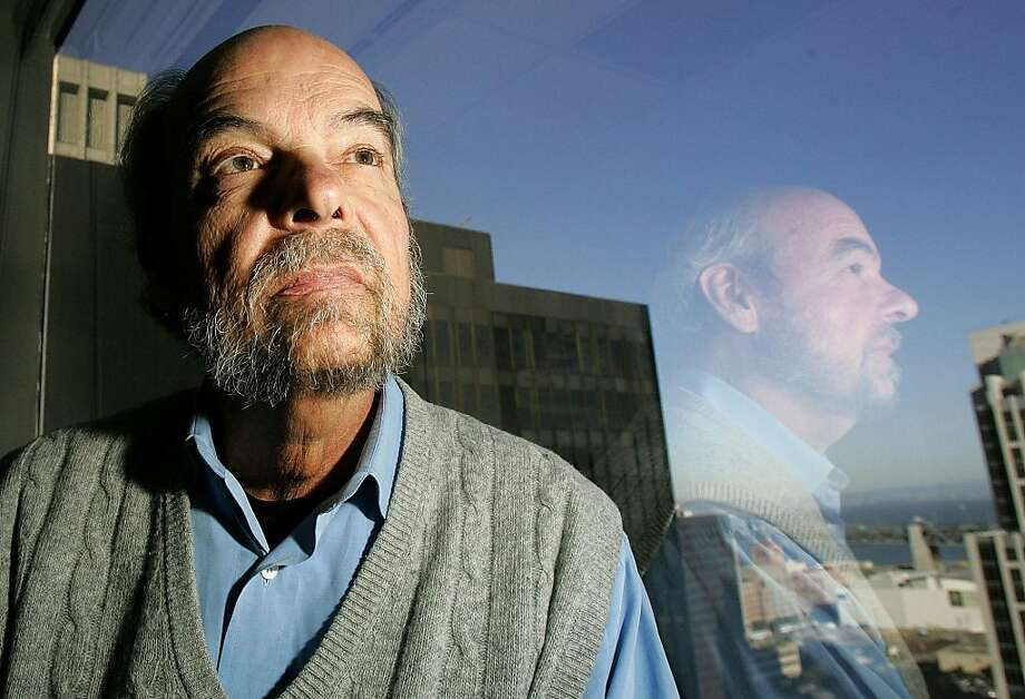 File-In this Wednesday March 30,2005 file photo showing Peter Douglas, executive director of the California Coastal Commission, at in his office in San Francisco.  Douglas, who has worked 40 years to keep one of the worldÕs most beautiful coastlines largely undeveloped, told the Associated Press he will announce his retirement on Wednesday, Aug. 10, 2011. Photo: Jeff Chiu, AP
