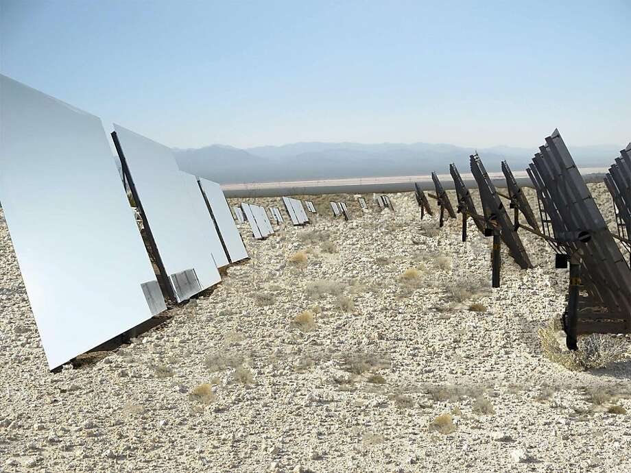 The Hidden Hills Solar Electric Generating System would be built in Inyo County, along the Nevada border, and would generate enough electricity for 178,000 homes. Photo: BrightSource Energy Inc.