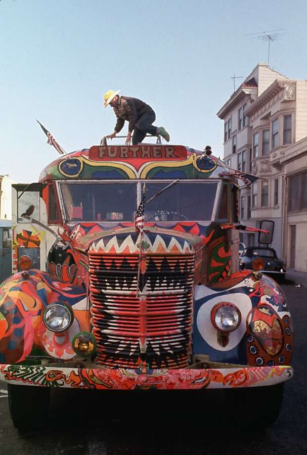 October 1966, Warehouse, Harriet Street, South of Market, San Francisco, California, USA --- Ken Kesey's Bus. Photo: Ted Streshinsky, CORBIS