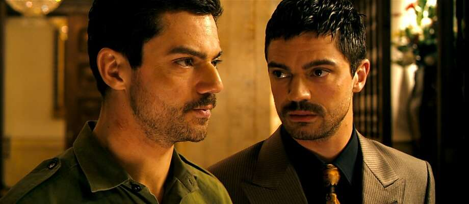 Dominic Cooper stars as Latif Yahia (left) and Uday Hussein (right) in THE DEVIL'S DOUBLE. Photo: Courtesy Of Lionsgate