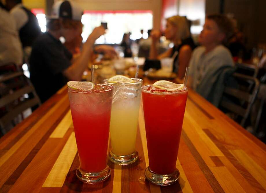 Roam restaurant in San Francisco, Calif. makes their own blend of different flavored sodas, they currently make 6 different flavors. Photo: Michelle Terris, The Chronicle