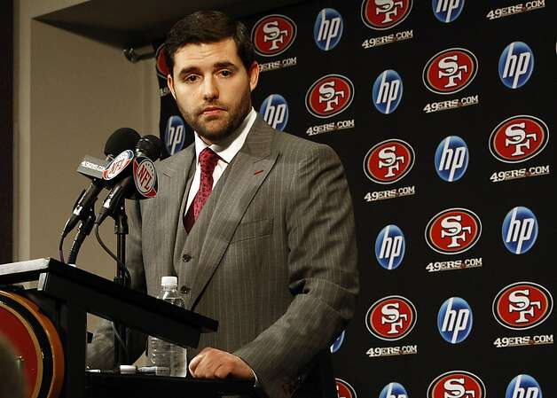 The San Francisco 49ers' CEO and team president Jed York answers questions during a press conference at their headquarters in Santa Clara, Calif., on Monday, December 27, 2010. Photo: Liz Hafalia, The Chronicle