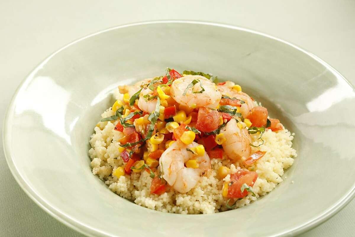 Summer Shrimp & Corn Sauté. Styling by Amanda Gold.