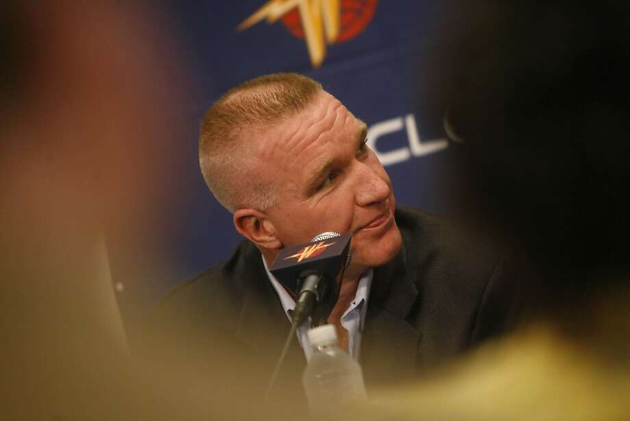 General Manager Chris Mullin at a press conference announcing the Warriors new draft picks, Anthony Randolph and Richard Hendrix  in Oakland, Calif. on Monday, June 30, 2008. Photo By Lea Suzuki/ The Chronicle Photo: Lea Suzuki, The Chronicle
