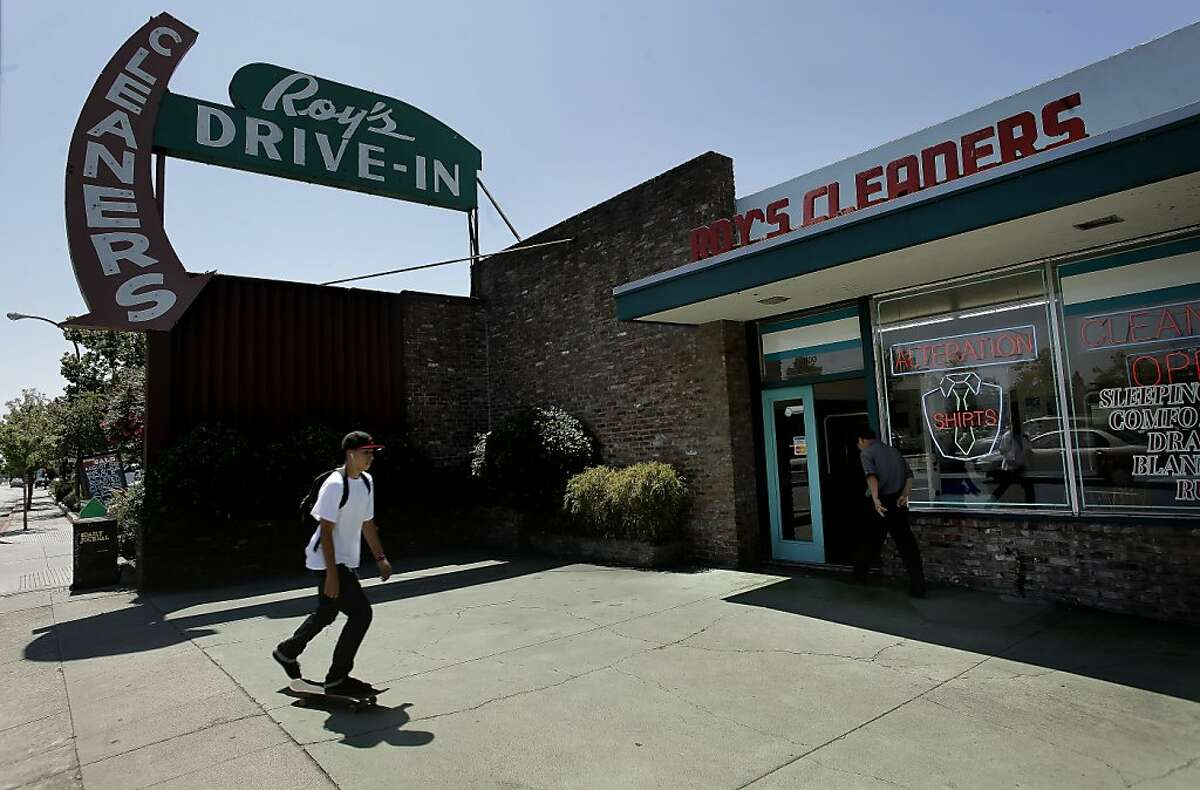 Roy's Drive-in Cleaners in Redwood City, Ca. on Friday August 5, 2011.The many different architectural designs of buildings and the variety of signs along the El Camino Real from Millbrae south to Redwood City.