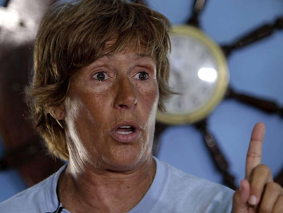 U.S. swimmer Diana Nyad, 61, speaks during a press conference in Havana, Cuba to announce her 103-mile crossing between Cuba and Key West in Florida, Sunday, Aug. 7, 2011. Nyad will begin her journey Sunday night and expects to accomplish her goal in approximately 60 hours. Photo: Franklin Reyes, AP