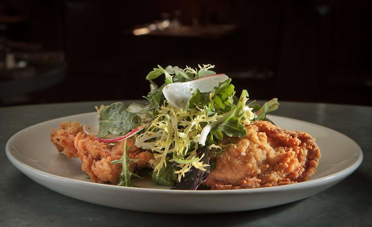The fried Pacific oyster salad at the Boxing Room combines the best of California and Louisiana.