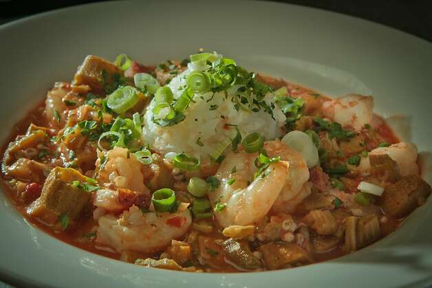 The smothered Okra and Gulf Shrimp Gumbo at the Boxing Room restaurant in San Francisco, Calif., is seen on July 27th, 2011. Photo: John Storey, Special To The Chronicle
