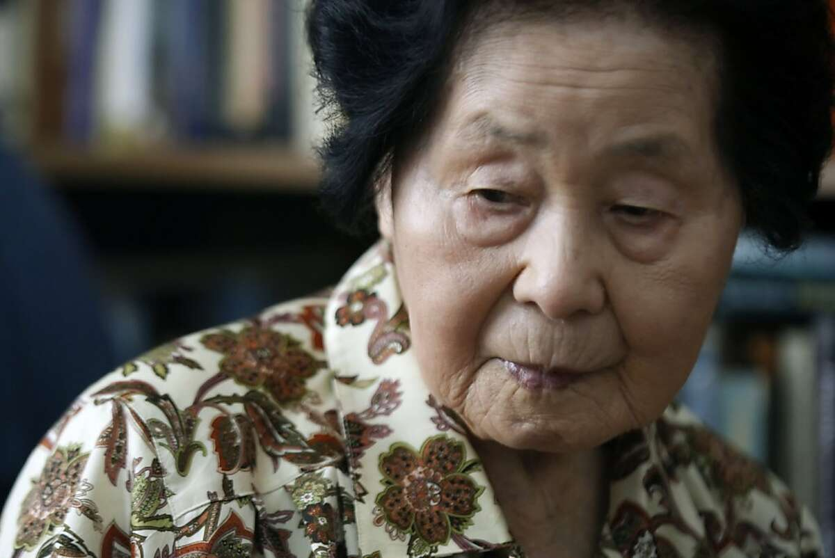 Sensei Keiko Fukuda at 98 years old relaxes in her San Francisco home with roommate Shelley Fernandez. Fukuda is the highest ranked women in the world at ninth degree and the only living student of judo's founder Jigoro Kano who opened his first judo school in 1882. Thursday July 21, 2011.