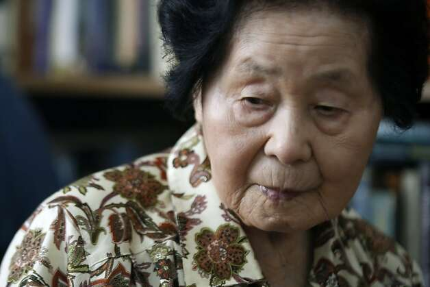 Sensei Keiko Fukuda at 98 years old relaxes in her San Francisco home with roommate Shelley Fernandez. Fukuda is the highest ranked women in the world at ninth degree and the only living student of judo's founder Jigoro Kano who opened his first judo school in 1882. Thursday July 21, 2011. Photo: Lance Iversen, The Chronicle