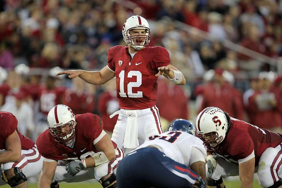 Quarterback Andrew Luck leads Stanford past the Arizona Wildcats at Stanford Stadium on Saturday. Photo: Adm Golub, The Chronicle