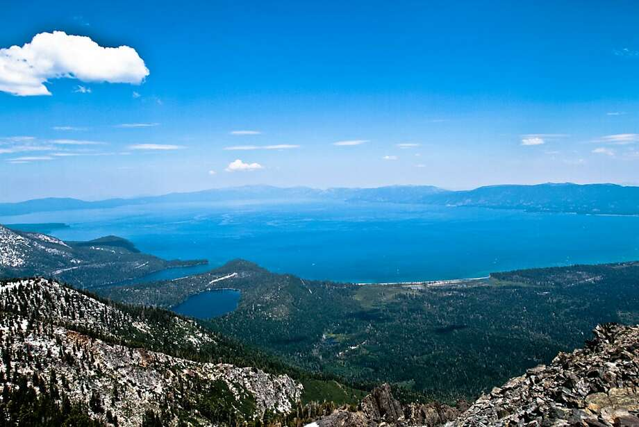 IBM? Pshaw. It's easy to see that Lake Tahoe is the real Big Blue when looking east from the summit of Mount Tallac. July 2011 Photo: Michael Furniss, Courtesy Photo