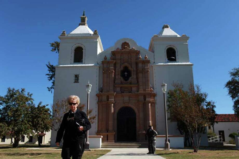 metro - Claire Stafford leaves after attending the first mass since renovations were completed in the Randolph Air Force Base Chapel in San Antonio on Wednesday, Nov. 30, 2011. LISA KRANTZ/lkrantz@express-news.net Photo: LISA KRANTZ, SAN ANTONIO EXPRESS-NEWS / SAN ANTONIO EXPRESS-NEWS