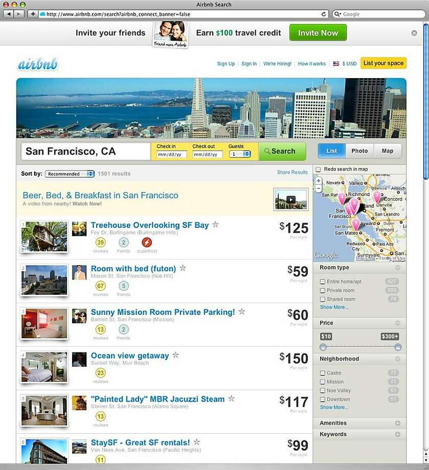 a screen shot of airbnb. Photo: Airbnb.com