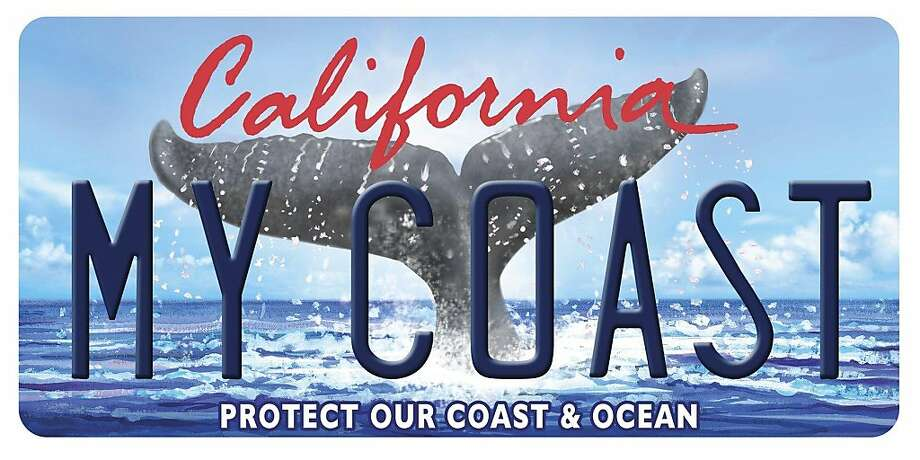 The California Coastal commission is launching a new Whale Tail specialty license plate.  This is the new plate. Photo: California Coastal Commission