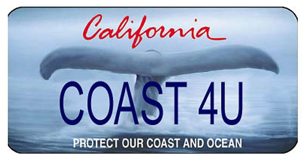 The California Coastal commission is launching a new Whale Tail specialty license plate. This is the plate it is removing.