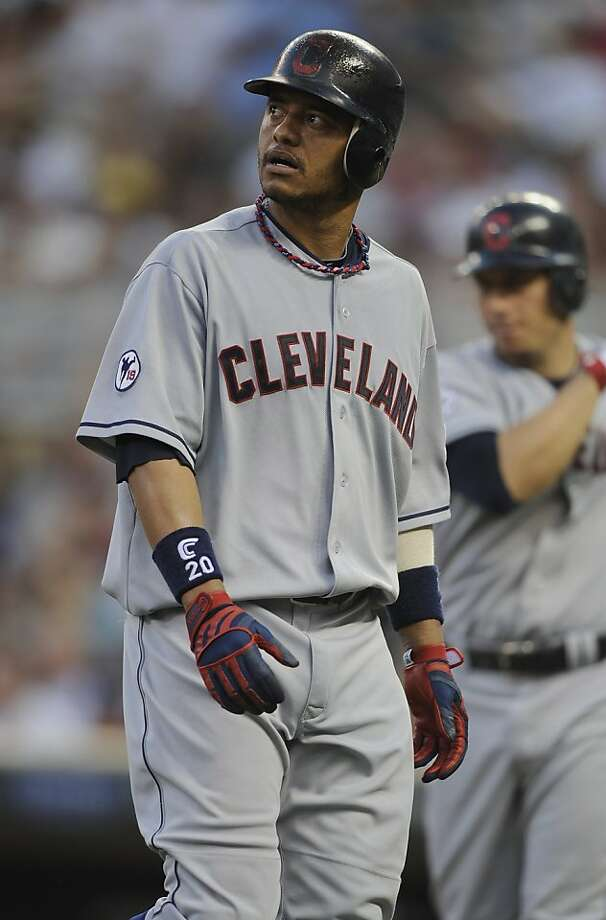 MINNEAPOLIS, MN - JULY 19: Orlando Cabrera #20 of the Cleveland Indians reacts to popping out with the bases loaded against the Minnesota Twins in the fifth inning on July 19, 2011 at Target Field in Minneapolis, Minnesota. Photo: Hannah Foslien, Getty Images