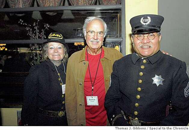 John's Grill 100th BirthdayInspector Liane Corrales, John Burton, Corporal Jamie Ongpin Photo: Thomas J. Gibbons, Special To The Chronicle