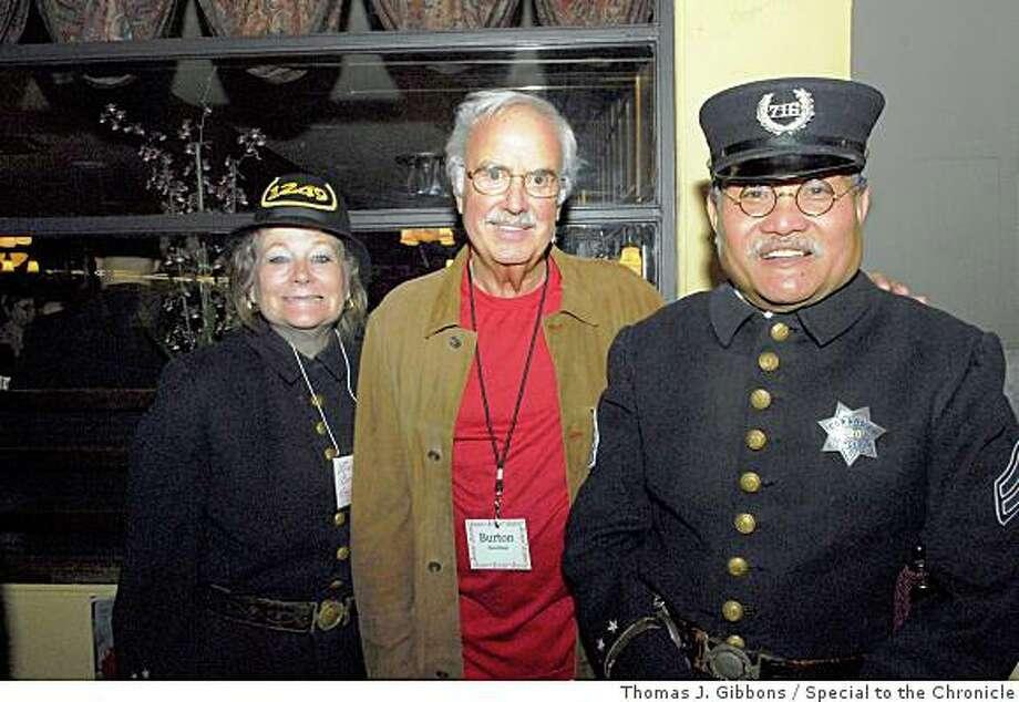 John's Grill 100th BirthdayInspector Liane Corrales, John Burton, Corporal Jamie Ongpin Photo: Thomas J. Gibbons, Special To The Chronicle