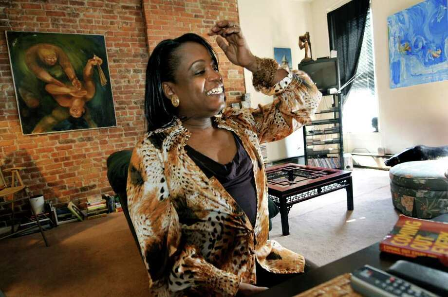 Kym Dorsey, a 47-year-old transgender woman who also leads a support group for transgender people at In Our Own Voices, on Thursday, April 7, 2011, at her home in Albany, N.Y. (Cindy Schultz / Times Union) Photo: Cindy Schultz, Albany Times Union