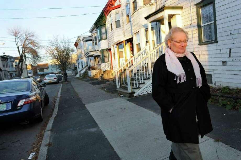 Transgender woman Wendy Moore in her neighborhood on Friday, Nov. 18, 2011, in Albany, N.Y. (Cindy Schultz / Times Union) Photo: Cindy Schultz, Albany Times Union