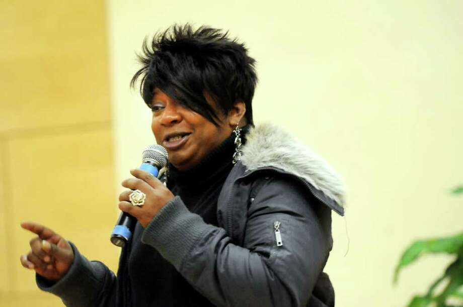 Transgender woman Ladawn Sebastian speaks during the Transgender Day of Remembrance on Sunday, Nov. 22, 2011, at First Unitarian Universalist Society in Albany, N.Y. (Cindy Schultz / Times Union) Photo: Cindy Schultz, Albany Times Union