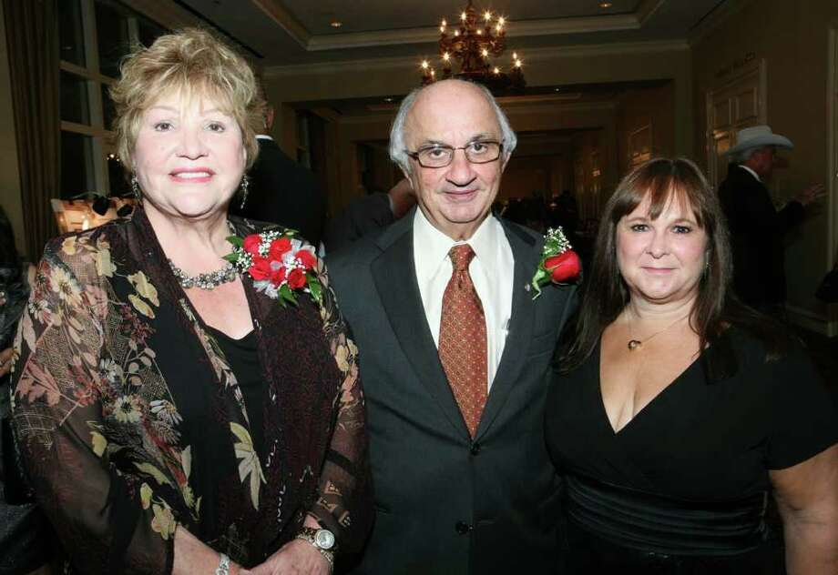 Lana Duke (Supporter), Harvey Najim (Honoree) and Gloria Kelly (CEO) were at the Roy Maas Youth Alternatives gala on Nov. 12 at the Westin Riverwalk Hotel. Photo: LELAND A. OUTZ, SPECIAL TO THE EXPRESS-NEWS / SAN ANTONIO EXPRESS-NEWS
